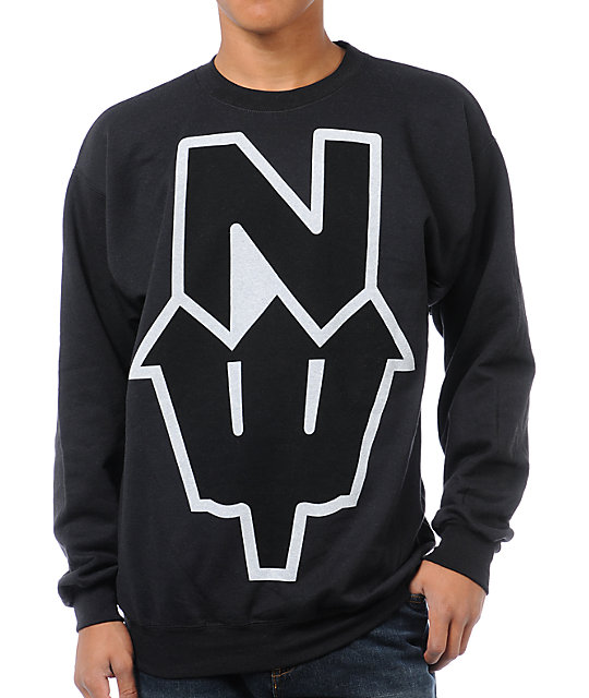 Casual Industrees N.Dub Black Crew Neck Sweatshirt