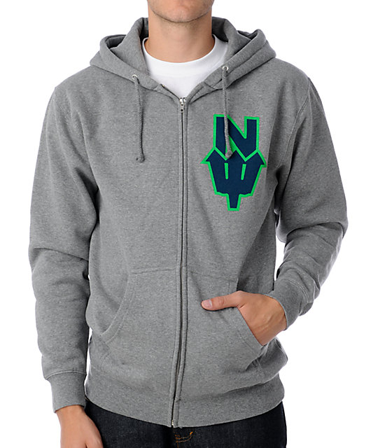 Casual Industrees NW Trident Grey Hoodie