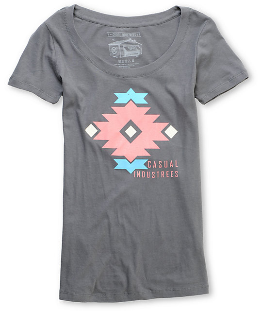Casual Industrees Native Charcoal T-Shirt