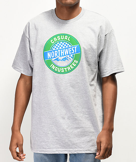 Casual Industrees Northwest Puck Grey T-Shirt