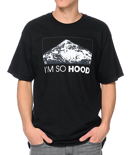 Casual Industrees OR Im So Hood camiseta negra