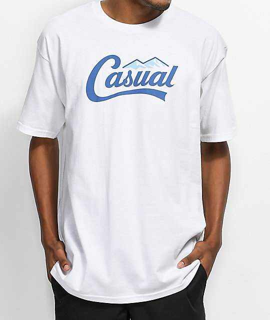 Casual Industrees PNW Downtown Script White T-Shirt