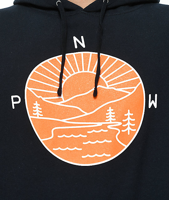 Casual Industrees PNW Explorer Navy & Orange Hoodie