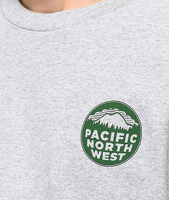 Casual Industrees PNW Heather Grey Long Sleeve T-Shirt