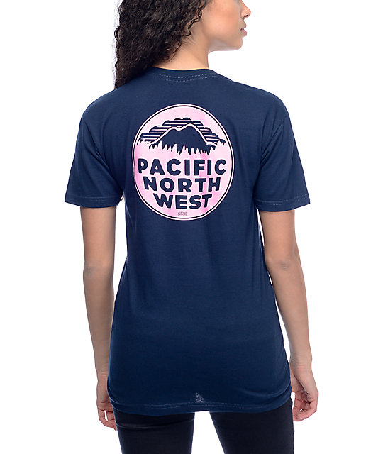 Casual Industrees PNW Navy & Pink T-Shirt