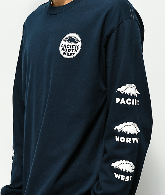 Casual Industrees PNW Navy Long Sleeve T-Shirt