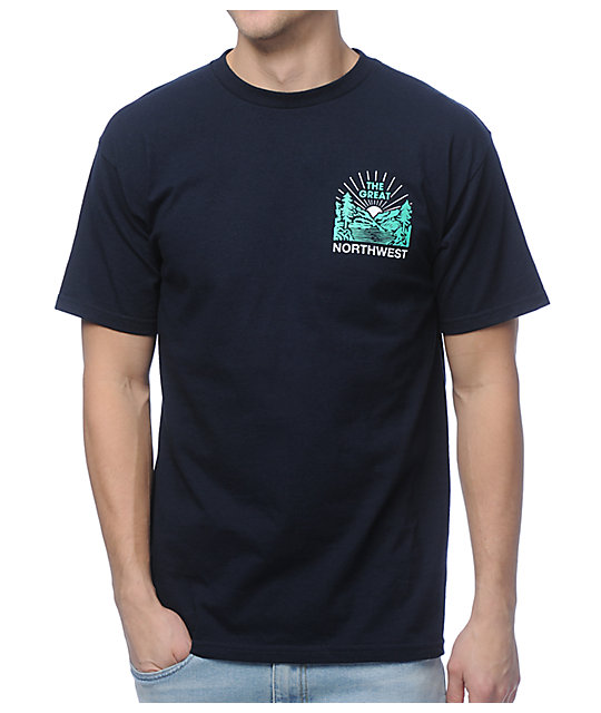 Casual Industrees PNW Squatch Valley 2 Navy T-Shirt
