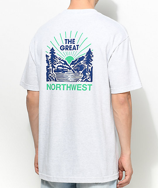 Casual Industrees PNW Squatch Valley 2 camiseta en color carbón