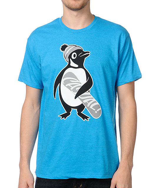 Casual Industrees Penguin Mint Blue T-Shirt