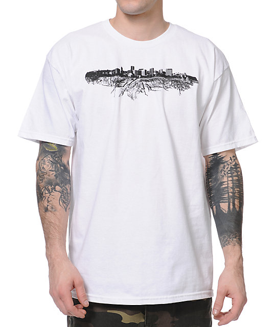 Casual Industrees Portland Roots White T-Shirt