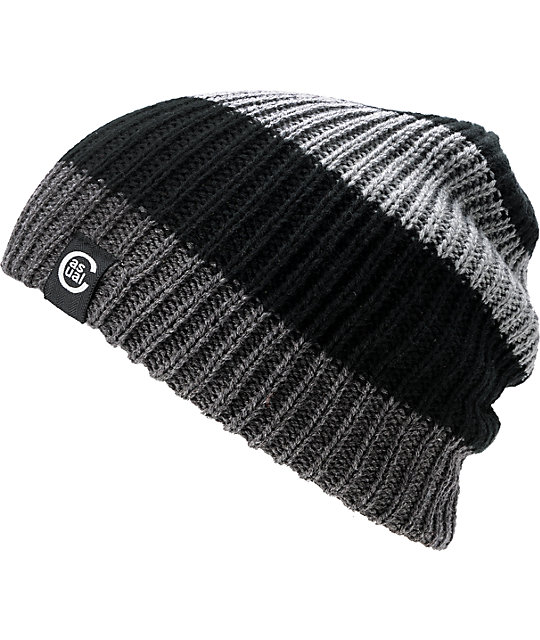 Casual Industrees Quad Black & Grey Reversible Beanie