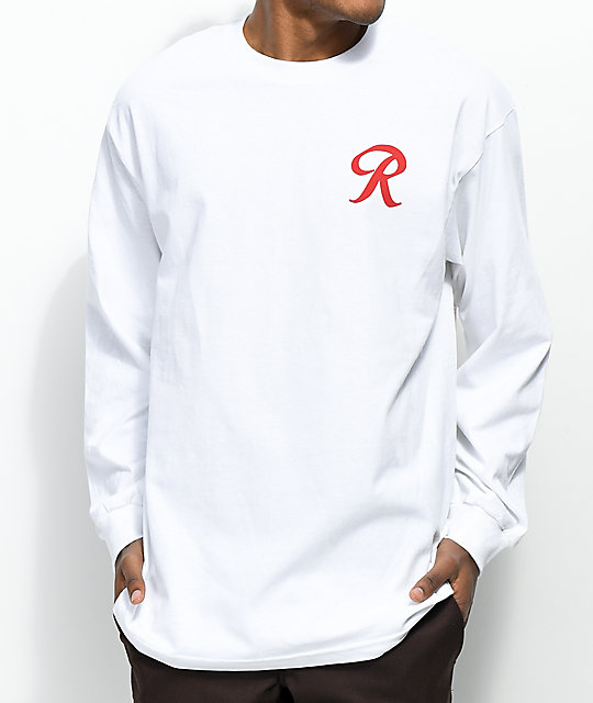 Casual Industrees Rainier R For Life White Long Sleeve T-Shirt