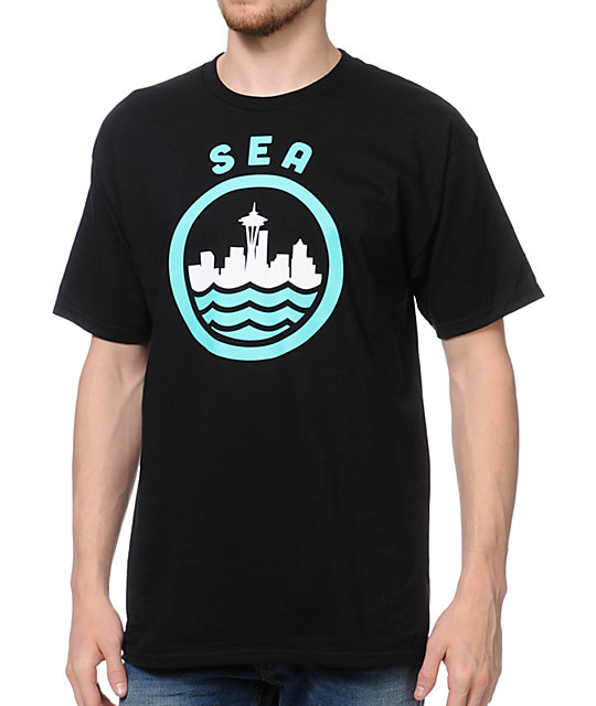 Casual Industrees SEA Black T-Shirt