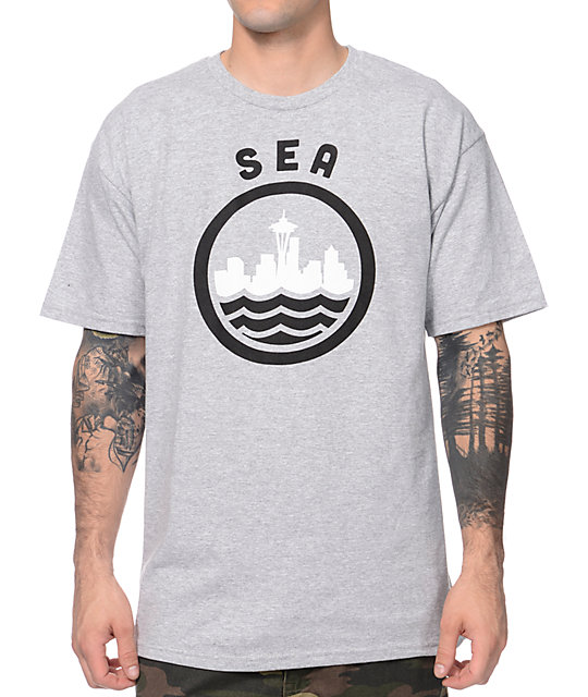 Casual Industrees SEA Grey & Black T-Shirt