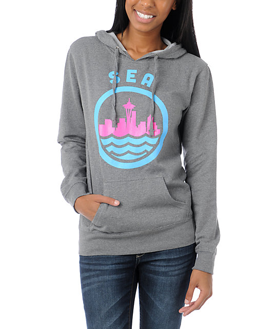 Casual Industrees SEA Grey Pullover Hoodie