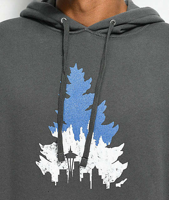 Casual Industrees SEA Johnny Tree Line sudadera en color carbón