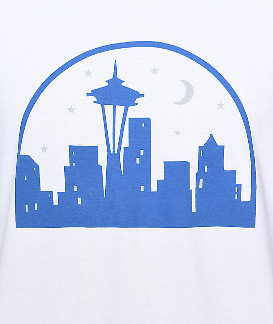 Casual Industrees SEA Seattle Nights White T-Shirt