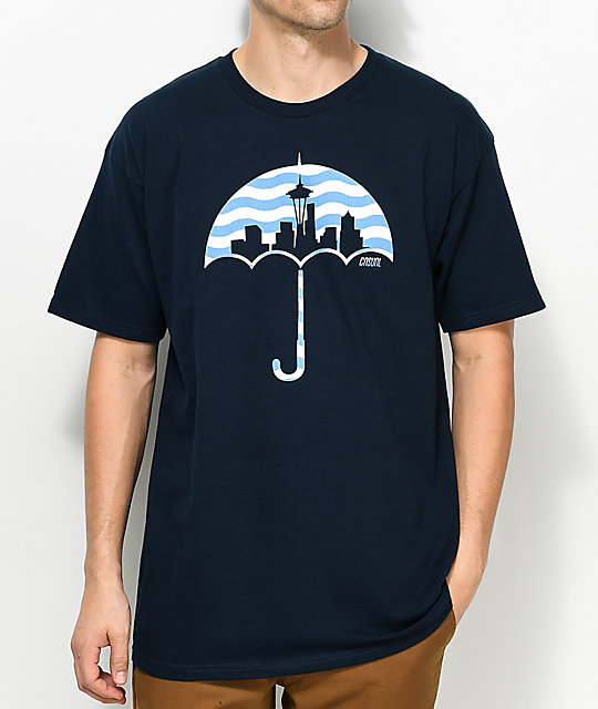 Casual Industrees SEA Umbrella Wavy Navy T-Shirt