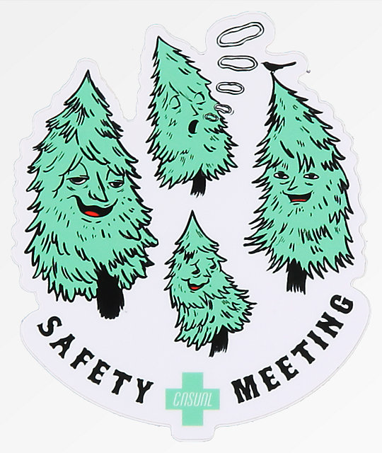 Casual Industrees Safety Meeting Sticker