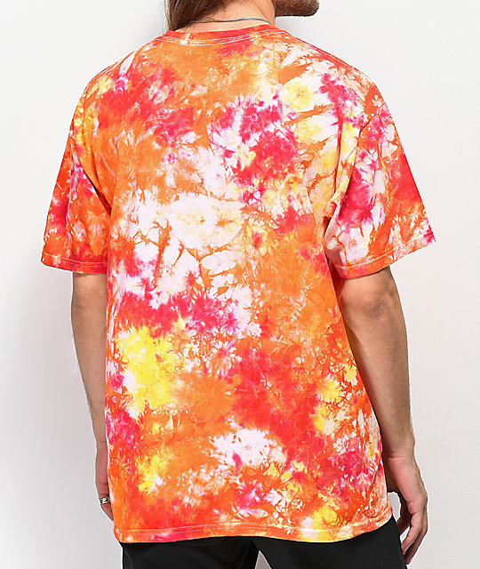 Casual Industrees Script Red Tie Dye T-Shirt