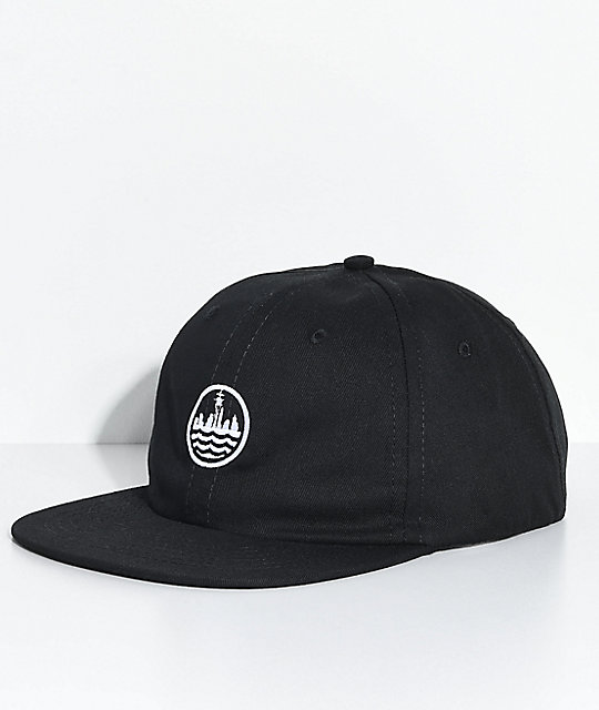 Casual Industrees Sea Black Strapback Hat