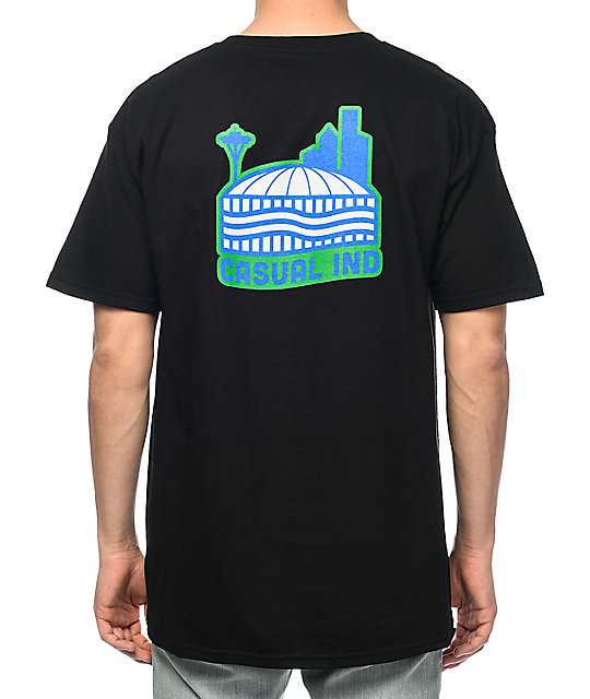 Casual Industrees Sea Da Dome camiseta negra