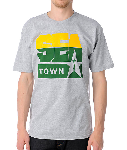 Casual Industrees Sea Town 2 Heather Grey T-Shirt