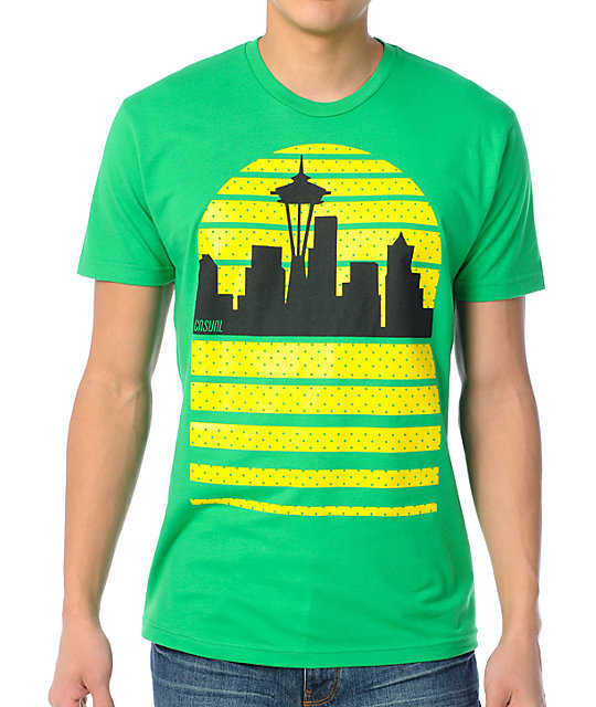 Casual Industrees Seattle Sky Green T-Shirt