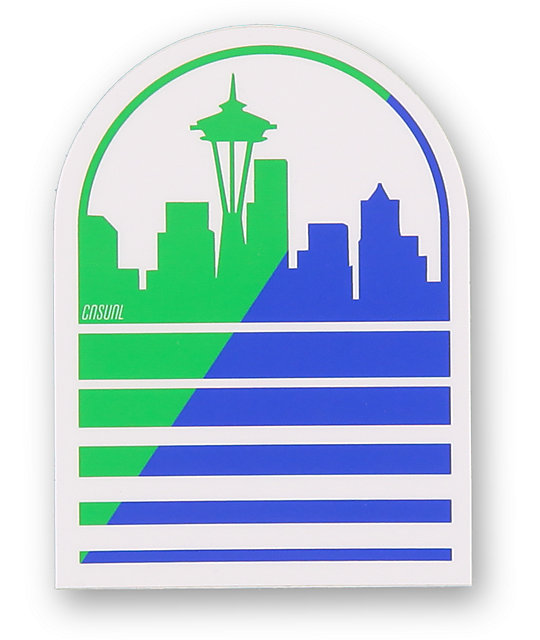 Casual Industrees Seattle Skyline Shadow Sticker