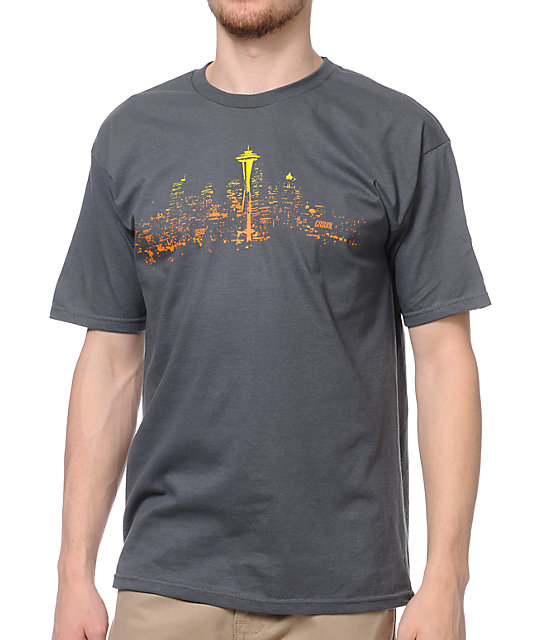Casual Industrees Skylight Charcoal T-Shirt