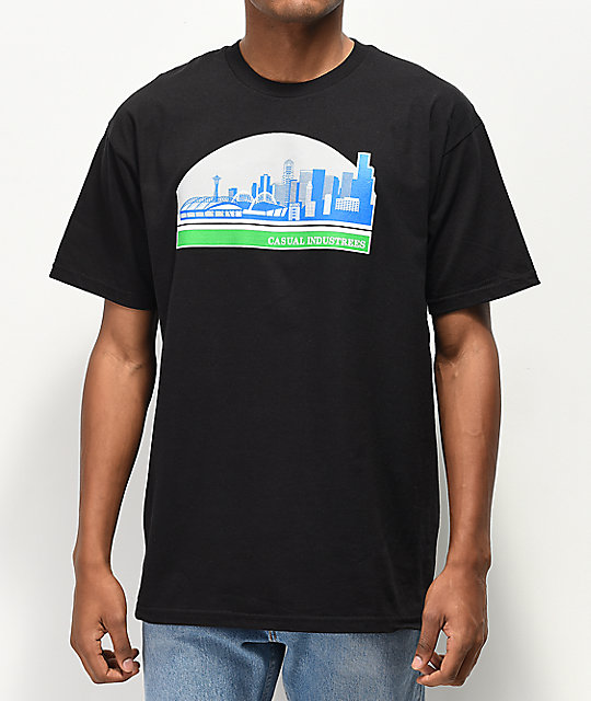 Casual Industrees Sodo Skyline Black T-Shirt