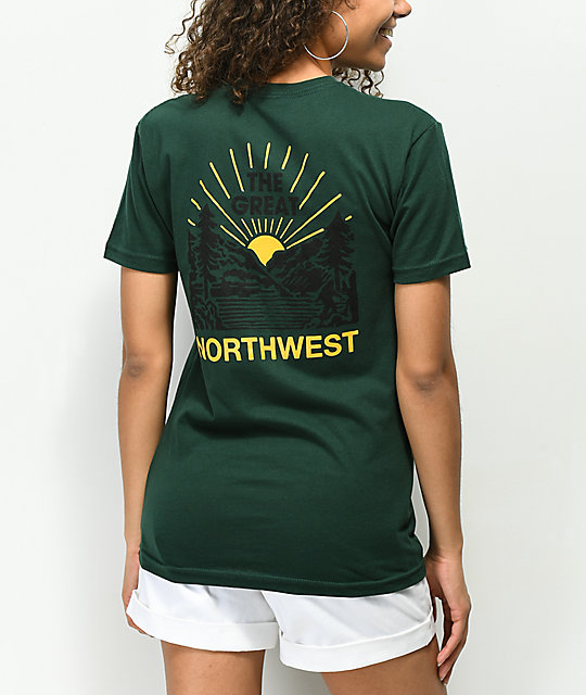 Casual Industrees Squatch Valley Forest Green T-Shirt