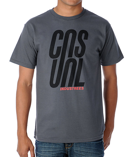 Casual Industrees Stacked Grey T-Shirt