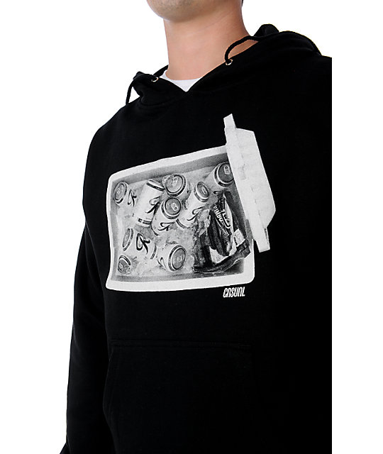 Casual Industrees Treasure Chest Black Pullover Hoodie