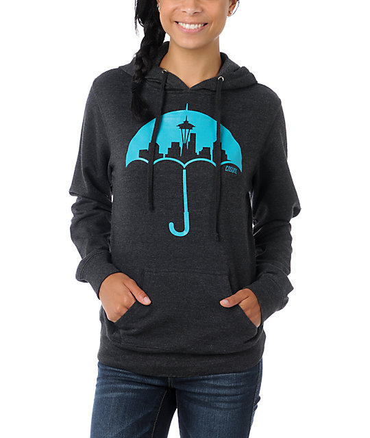 Casual Industrees Umbrella Charcoal Pullover Hoodie