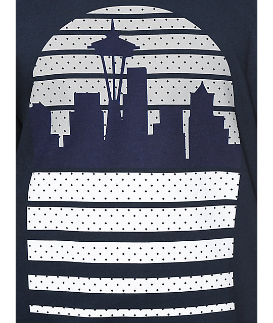 Casual Industrees WA Seattle Skyline OG camiseta