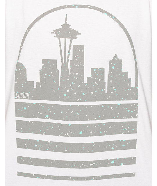 Casual Industrees WA Seattle Skyline Speckle camiseta