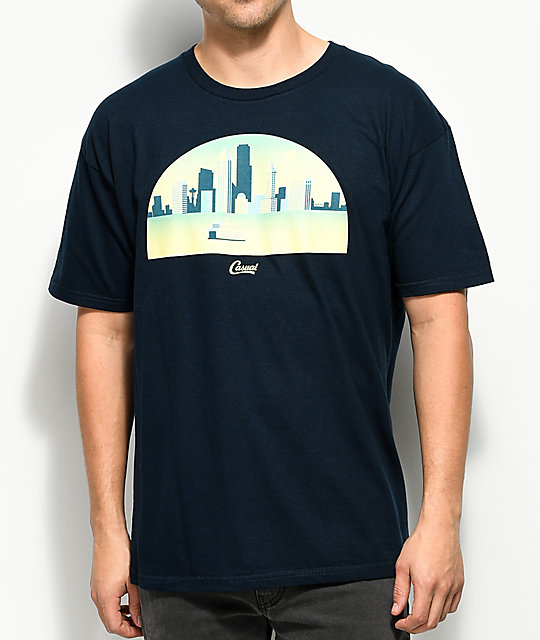 Casual Industrees WA Skyline Arch 3D Navy T-Shirt