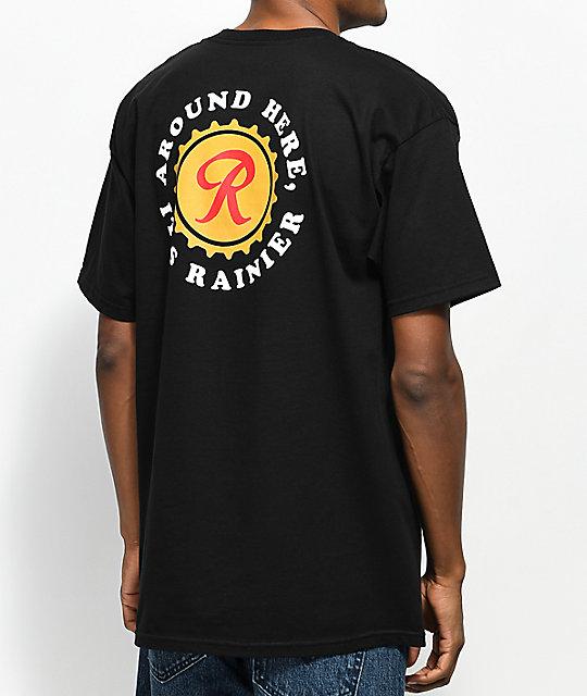 Casual Industrees x Rainier Around Here Black T-Shirt ...