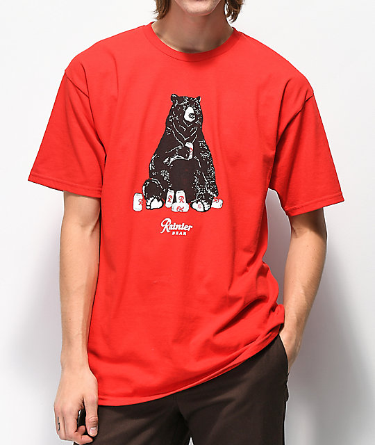 Casual Industrees x Rainier Bear camiseta roja