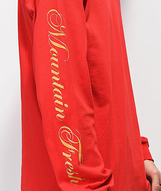 Casual Industrees x Rainier Embroidered R Red Long Sleeve T-Shirt