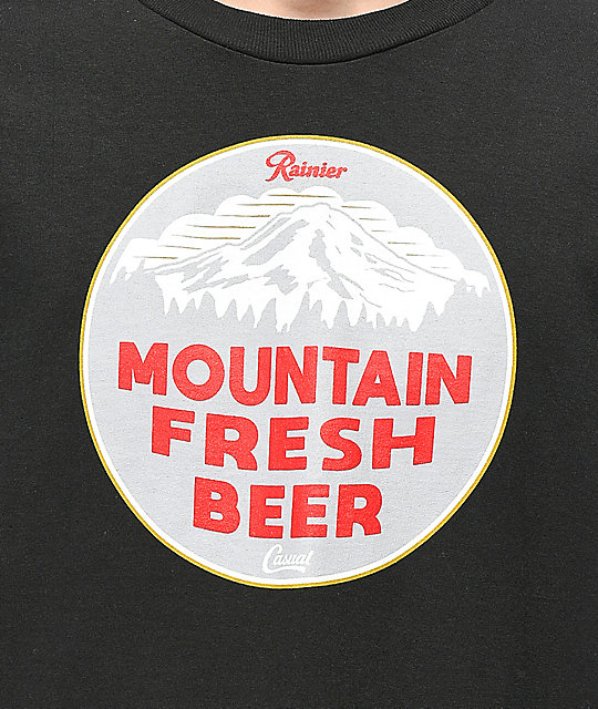 Casual Industrees x Rainier Mountain Fresh Black Long Sleeve T-Shirt