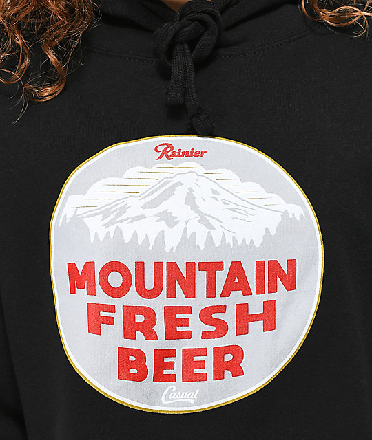 Casual Industrees x Rainier Mountain Fresh sudadera negra con capucha