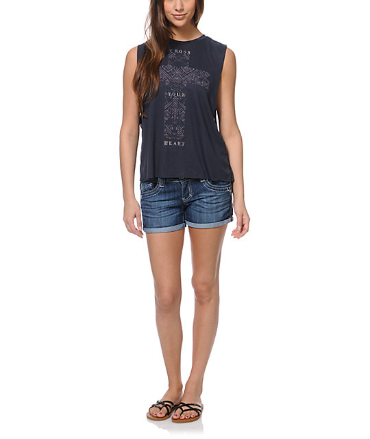 Cea+Jae Cross Your Heart Tulip Tank Top