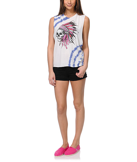 Cea+Jae Headdress Tie Dye Muscle T-Shirt
