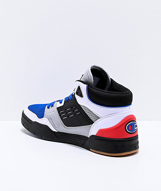 Champion 3 On 3 Black, White, Blue & Red Shoes