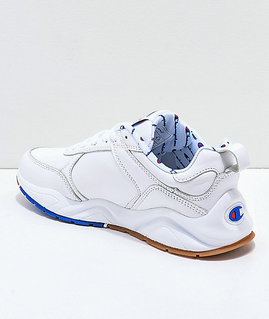 faf4a2dbc33 ... Champion 93 Eighteen Big C White Leather Shoes ...