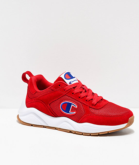 Champion 93 Eighteen Classic Red & White Shoes