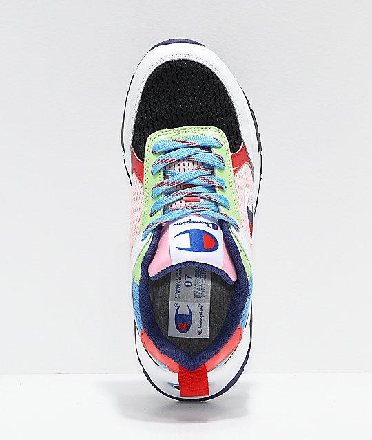 e14d51e5b4fc ... Champion 93 Eighteen SP Block White   Multicolor Shoes ...