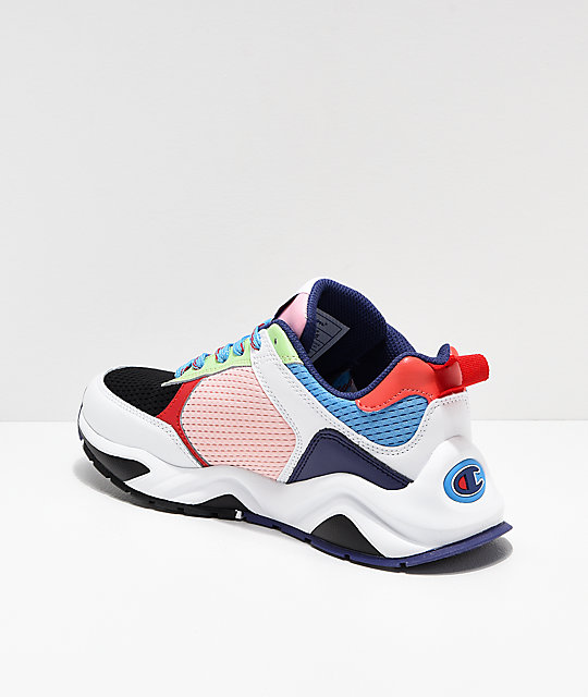 3aa50bb408af ... Champion 93 Eighteen SP Block White   Multicolor Shoes ...